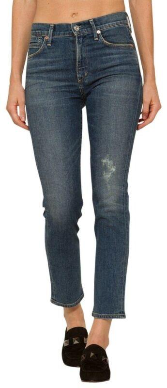 jeans donna elasticizzato vita bassa pantaloni nero lucido  m 44