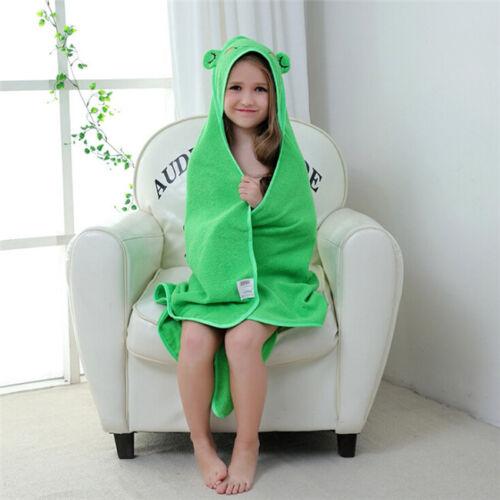 Toddler Baby Boys Girls Animal Hooded Blanket Bathrobe Bath Towel Wrap 8C