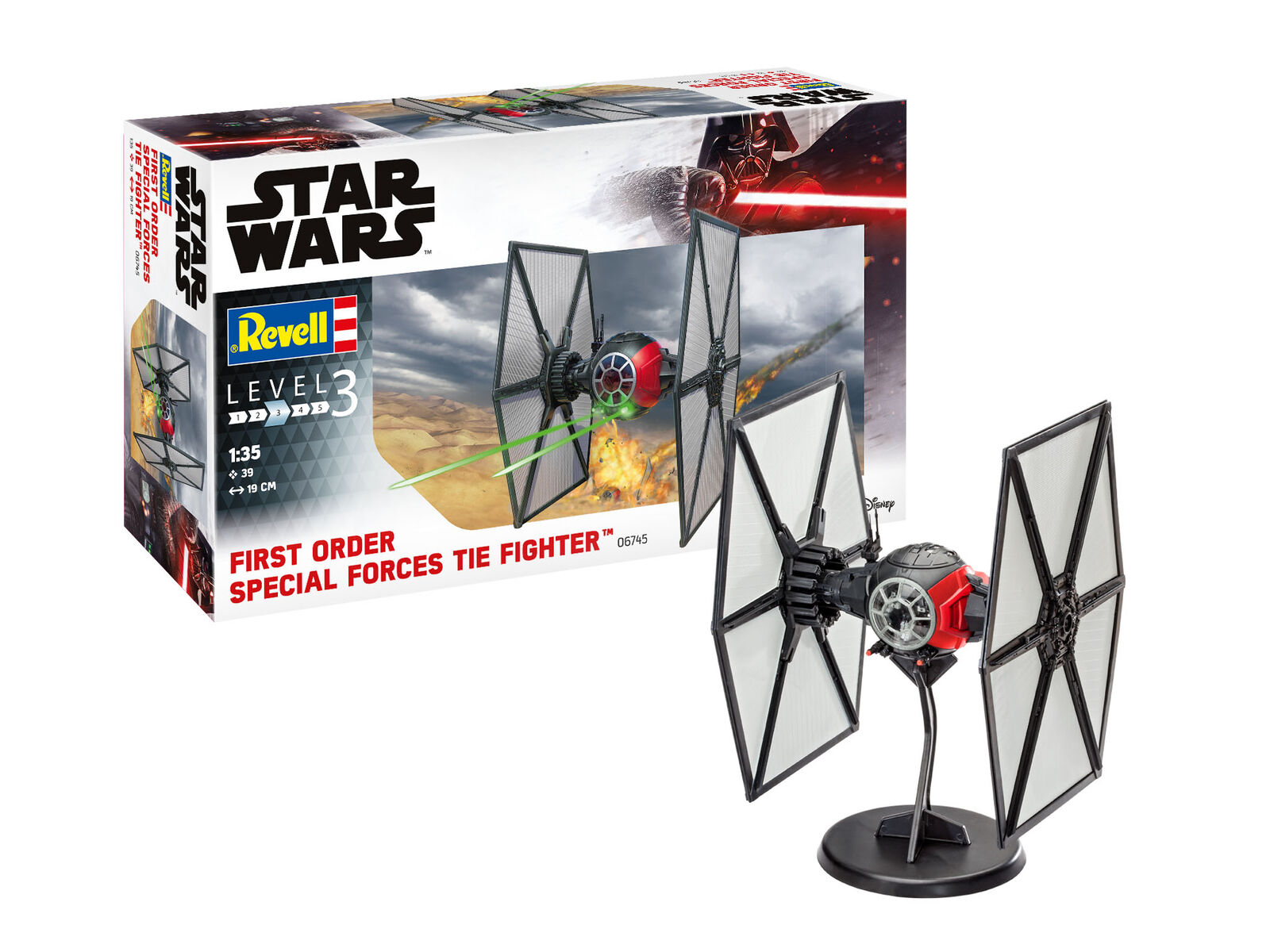 Revell 1 35 Star Wars Wars Wars First Order Special Forces Tie Fighter  06745 7b3