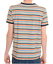mens new 60/'s//70/'s vintage retro mod style striped navy trim ringer t shirt
