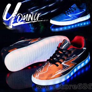 Details About Unisex Led Light Up Shoes Lightning Sportwear Lace Up Sneakers Luminous Shoes