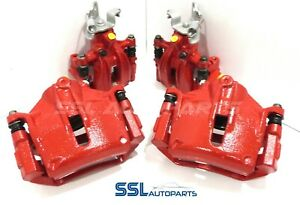 Ford-Mondeo-ST220-Pinzas-de-freno-delanteras-y-traseras-Remanufacturados-portadores-en-Rojo