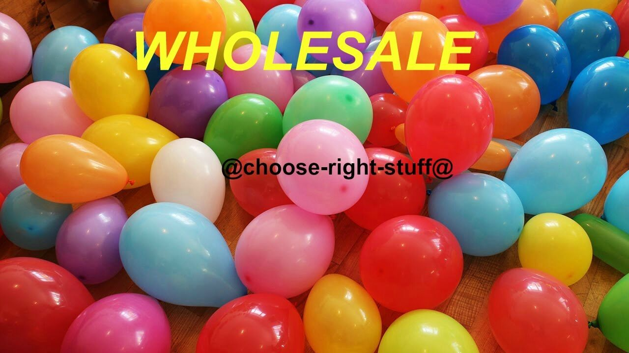 WHOLESALE Job Lot 10  Latex Plain Balloons 100-5000 Mix Colour For Mothers Day