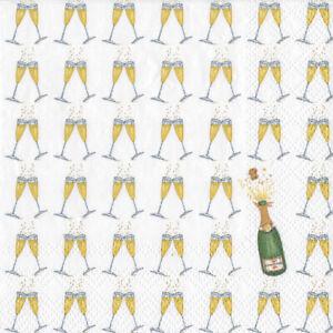 Bubbly-Champagne-Wedding-Caspari-cocktail-tea-napkins-20pack-25cm-square-3ply