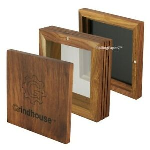 Grindhouse-Wood-Pollen-SIFTER-Box-w-Magnetic-Lid-5-034-x5-034-Mesh-125-125-Microns