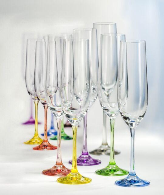 6er Set Sektgläser 19cl 190ml Champagner Sektkelch Prosecco Glas Sekt