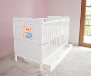 Babybett-Kinderbett-Juniorbett-120x60-Weiss-3x1-Schublade-Matratze-37