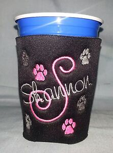 Image is loading PERSONALIZED-EMBROIDERED-Koozie-for-a-RED-SOLO-CUP