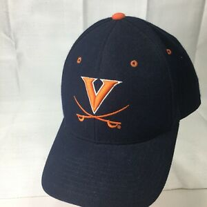 fc6ccd26b UNIVERSITY OF VIRGINIA CAVALIERS Hoos ORANGE/NAVY ZEPHYR Fitted 7 1 ...