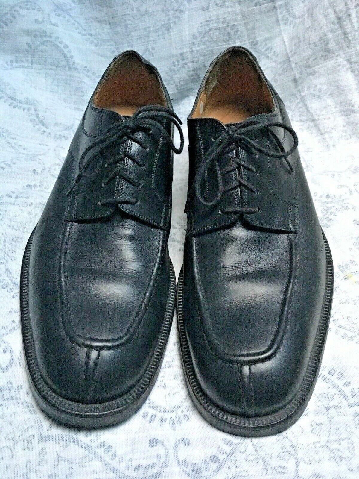 Bruno Magli Men's nero Leather Lace Up Oxford Loafers scarpe Dimensione 10 1 2 M