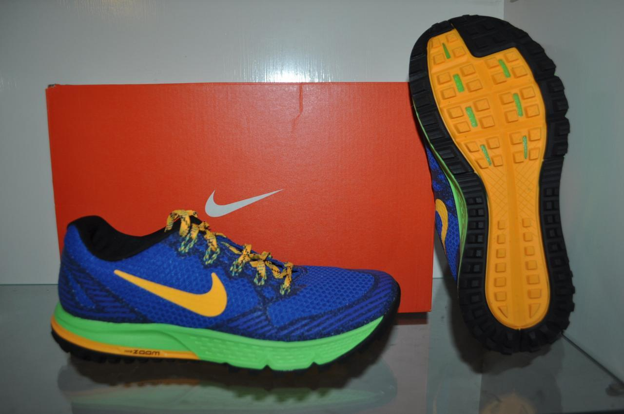 Nike air zoom wildhorse 3 uomini scarpe da corsa 749336 400 blue / orange / volt pennino