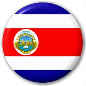 small 25mm lapel pin button badge novelty costa rica costa rican
