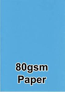 100-Luminoso-Blu-Colore-80gsm-A4-Fotocopiatrice-Ink-Jet-Stampante-Laser-Carta