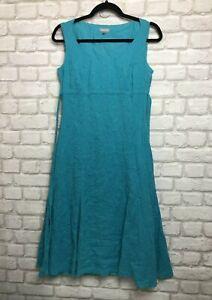 PER-UNA-M-amp-S-LADIES-DRESS-SIZE-10-REGULAR-BLUE-COTTON-DRESS