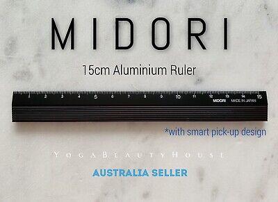 Midori Black Wooden Aluminium Ruler 15cm traveler/'s planner journal paper book