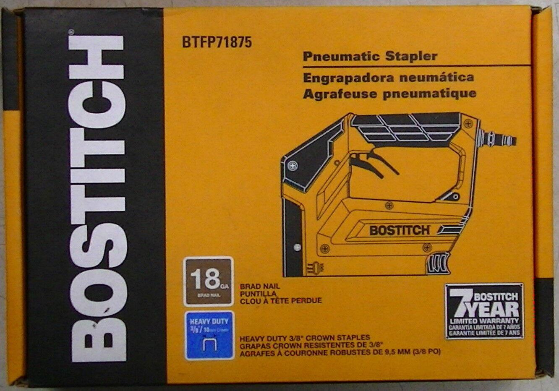 Bostitch BTFP71875 Heavy Duty 3 8  Pneumatic CROWN STAPLER, Tool Only