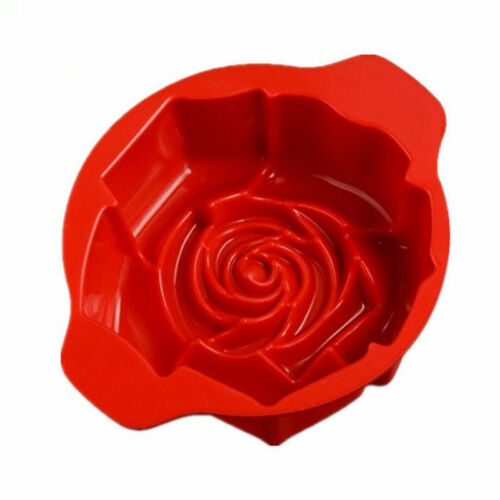 3D Flower Rose Shape Silicone Cake Mold Bakeware Cupcake Mould Baking Tool Soap