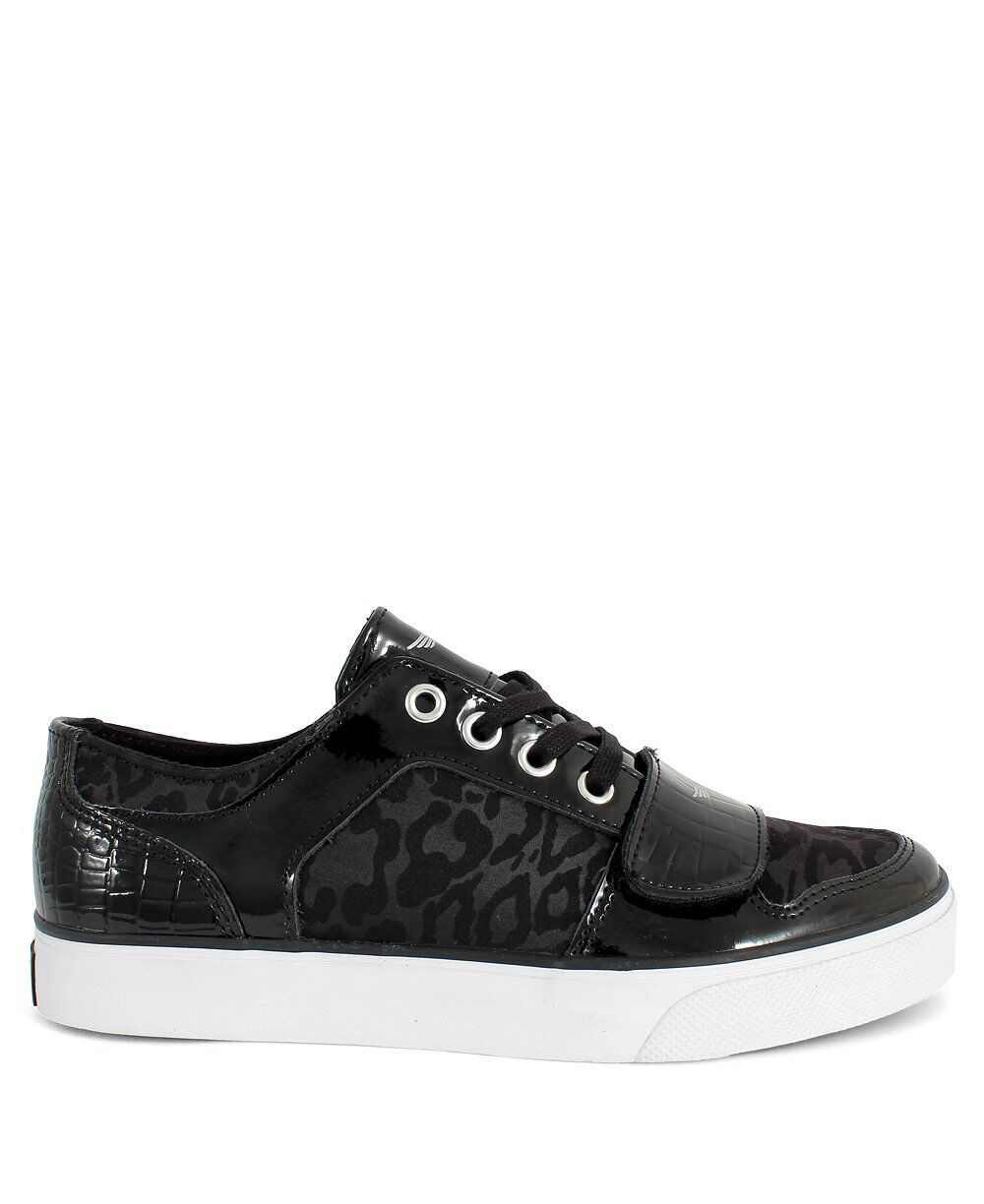 CREATIVE RECREATION BOYS BLACK WHITE YOUTH SCHOOL GS CESARIO LO TRAINERS