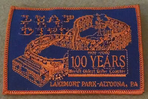 Leap the Dips, Lakemont Park Altoona PA, Embroidered Jacket Patch NEW and Unused