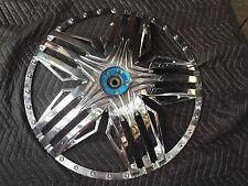 """26"""" DUB stuntin spinner floater face plate rims chrome cap 26s #1"""