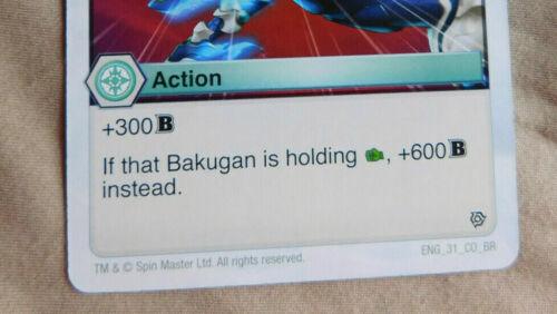 BAKUGAN BATTLE Planet RESURGENCE HOLY FLAME Action Card 31/_CO/_BR