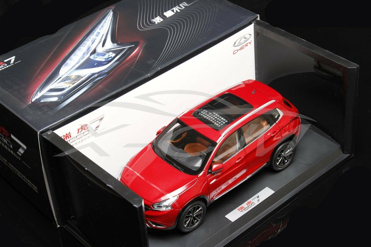 Diecast Car Model Chery Tiggo 7 Tiigo7 1 18 (Red) + GIFT