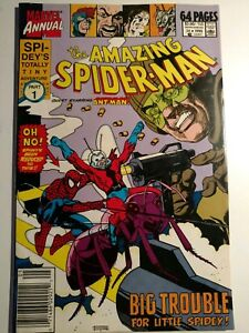 Details about Vintage 1990 The Amazing Spider-Man Marvel Annual Vol 1 No 24  Ant Man Part 1