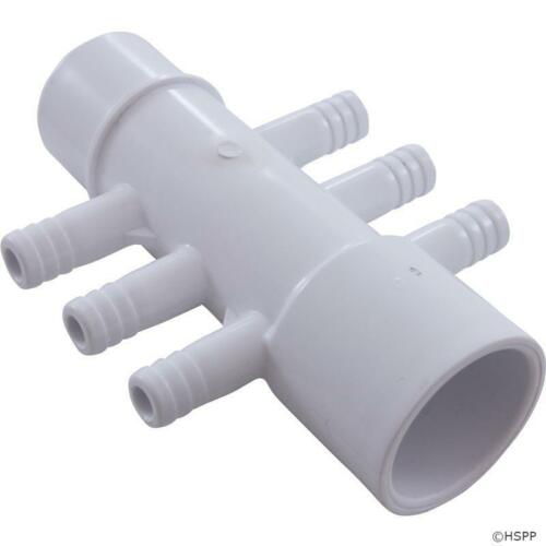 Hot Tub Basics1 PVC Manifold 1S x 1Spig (6x) 3/8 Barbs Waterway 672-3900