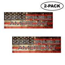 Trump 2020 Deplorable American Flag Bumper Sticker Decal Political Republican