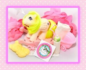 ❤️My Little Pony MLP G1 Vtg Baby Surprise Pegasus Play 'n Care Accessories❤️