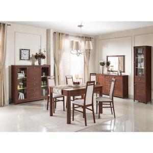 Dettagli su Sala soggiorno moderna finitura tinta ciliegio primavera mobili  salotto Antis Sa