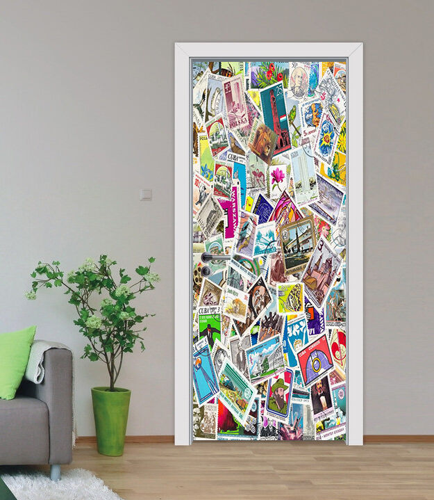3D 3D 3D Postkarte Tür Mauer Wandgemälde Foto Wandaufkleber AJ WALL DE Lemon 2853ce
