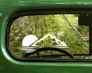 Hiking Hiker Stick Figure Car or Truck Window Laptop Decal Sticker