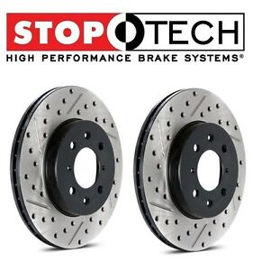 For-4-Runner-Set-of-Front-Left-amp-Right-Drilled-amp-Slotted-Brake-Discs-StopTech