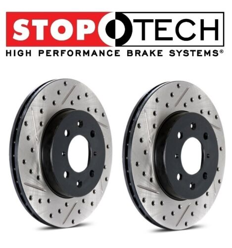 For 4 Runner Set of Front Left /& Right Drilled /& Slotted Brake Discs StopTech