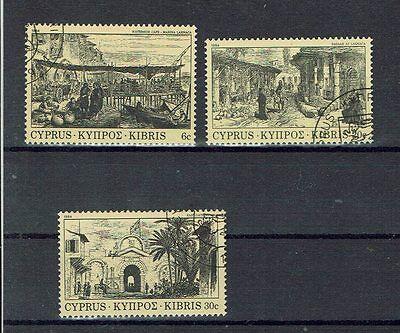 """608-10 Schöner Sondermarkensatz Zypern """" Historische Ansichten """" Mich Nr"""