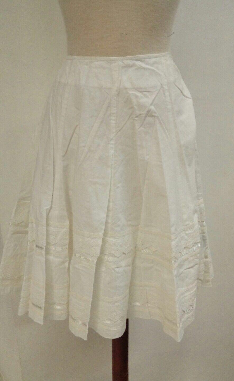 SKIRT woman Size L cotton white flight adlib NEW summer ref. 2.1.12
