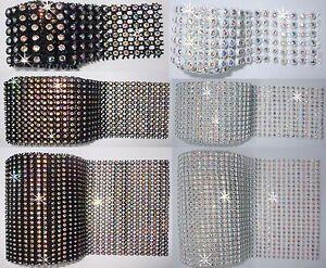 AB-STITCH-ON-CRYSTAL-diamante-REEL-ribbon-edging-lot-WEDDING-CAKE-BANDING-bling
