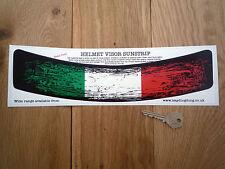 Bandera Italiana Usado envejecido Casco Visor sunstrip pegatina de coche de carreras de bicicleta Italia
