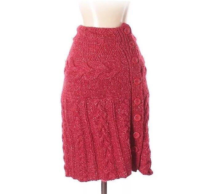 Saks 5th Ave Women's Crochet Pencil Skirt OSFM Red
