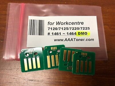 1457-1460 SOLD 4 Toner Chip for Xerox Workcentre 7120 7125 7220 7225 Refill