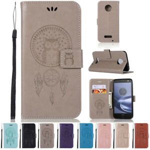 Leather-Flip-Card-Wallet-Holder-Case-Stand-Cover-For-Motorola-Moto-Z-Force-Droid
