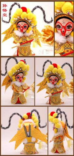 Chinese Beijing Peking Opera Characters Silk Dolls Folk Features Handmade Crafts