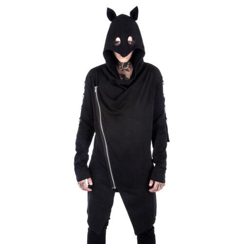 Kill Star gothic goth Hoodie con Cappuccio Giacca-Shinjuku Rebel maniche a pipistrello