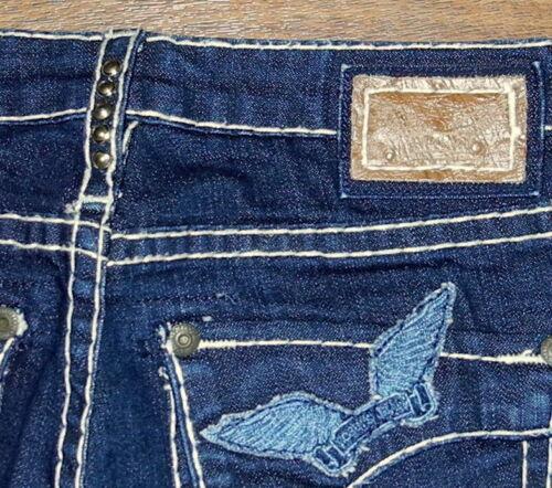 Long Cut blu Robin's Jean 600250 donna Sz 27x28 da scuro Flap Jeans Jean qSfIwA