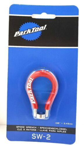 Park Tool SW-2 Spoke Wrench 0.136 3.45mm nipple Red Bicycle Repair Tool