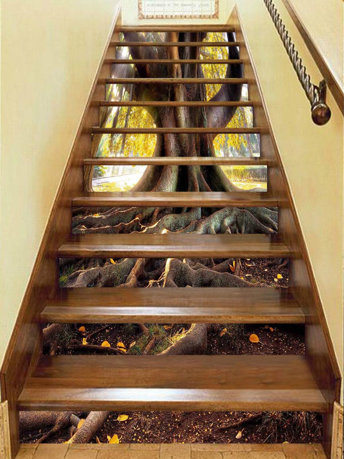 3D Groß Wurzel 336 Stair Risers Dekoration Fototapete Vinyl Aufkleber Tapete DE
