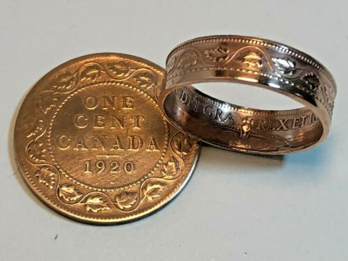 Size 7-13 Canadian Large Penny Coin Ring