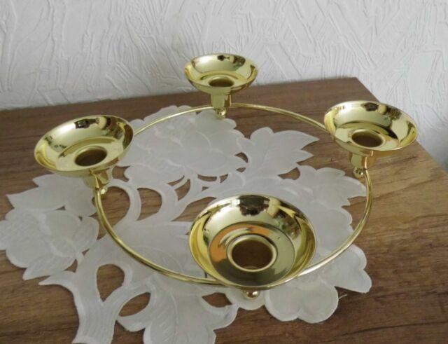Partylite Kerzenhalter Weihnachten Adventslichter Century gold rund Ø 30 cm