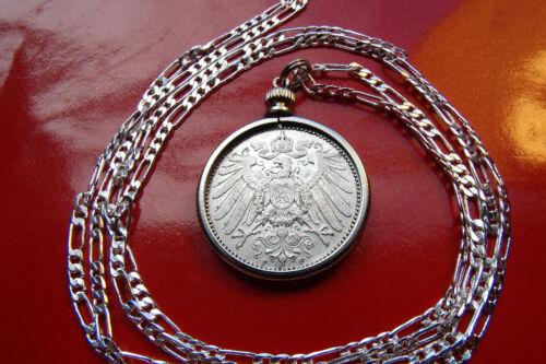 ".900 SILVER  1891-1915  GERMAN EAGLE MARK PENDANT 18/"" 925 Sterling Silver Chain"